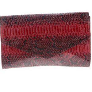 Giannini Maroon Red Envelope Clutch